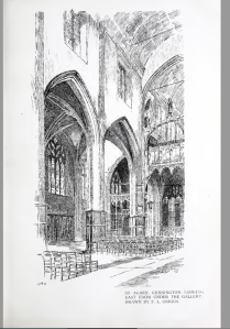 Interior of St Agnes Kennington c.1890. [Source: Architectural Review 5 (1898-99) 63]