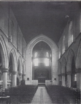 St Benet and All Saints, Kentish Town, London. Chancel, c.1910. [Source: 'In jubilaeo' (London: 1935)]