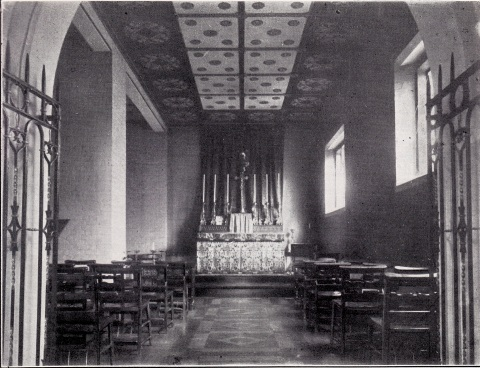 St Benet and All Saints, Kentish Town, London. the Blessed Sacrament chapel, c.1930. [Source: 'In jubilaeo' (London: 1935)]