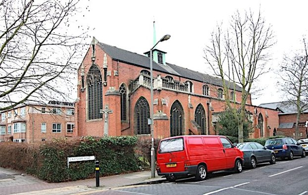 St Barnabas Southfields, London UK, seen from the north-east, 2012. Image source: John Salmon. https://www.geograph.org.uk/'