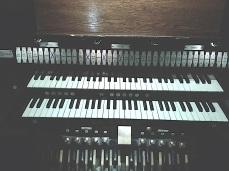 St Barnabas Southfields, London UK. The organ consile.