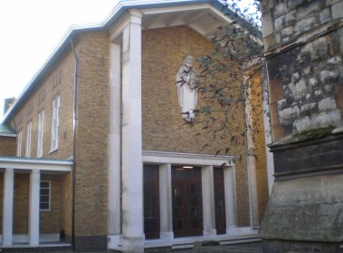 St Mary Newington, London. West front, c.2000. [Source: Exploring Southwark http://www.exploringsouthwark.co.uk/]