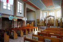 St Mary Newington, London. Interior looking west, 2018. [Source: ttps://londonchurchbuildings.com]
