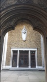 St Mary Newington, London, seen from Kennington Park Road,. through the old west door c.2000