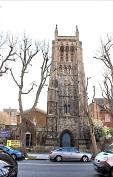 St Mary Newington, London, seen from Kennington Park Road . c.2000