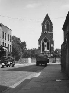 The west end of the churchchurch of St Matthias Stoke Newington (c.1940). Source: RIBA48761