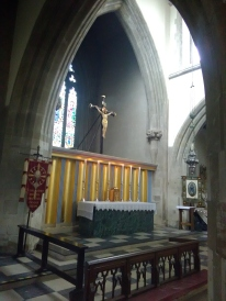 High altar at St Matthias Stoke Newington, London N16.