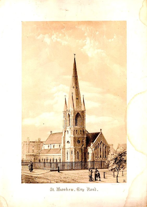 Former church of St Matthew (1848/60) City Road, London EC1 (UK)