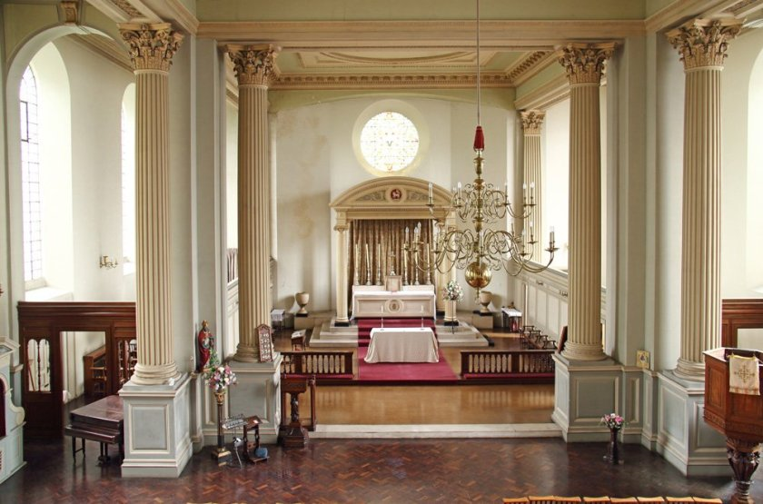 The chancel (2018), St Clement's Church, King Sqaure, London EC1 (UK)