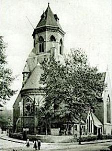 The former church of St Thomas, Agar Town, London NW.