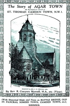 "St Thomas, Wrotham Road, NW1. [Source: ""The story of Agar Town : the ecclesiastical parish of St. Thomas', Camden Town"" MORRELL, R. Conyers (London: the author, 1935)"