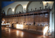 Haggerston Priory (London UK): choir stalls