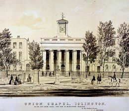 The Union Chapel, Islington, London, c1850. Artist: CJ Greenwood (?-?).